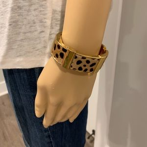 J Crew leopard and gold bangle
